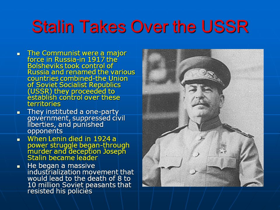 Stalin Takes Over the USSR