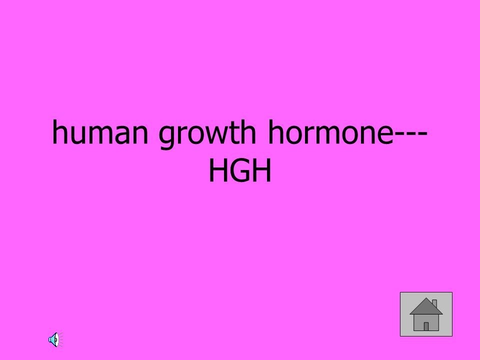 human growth hormone---HGH