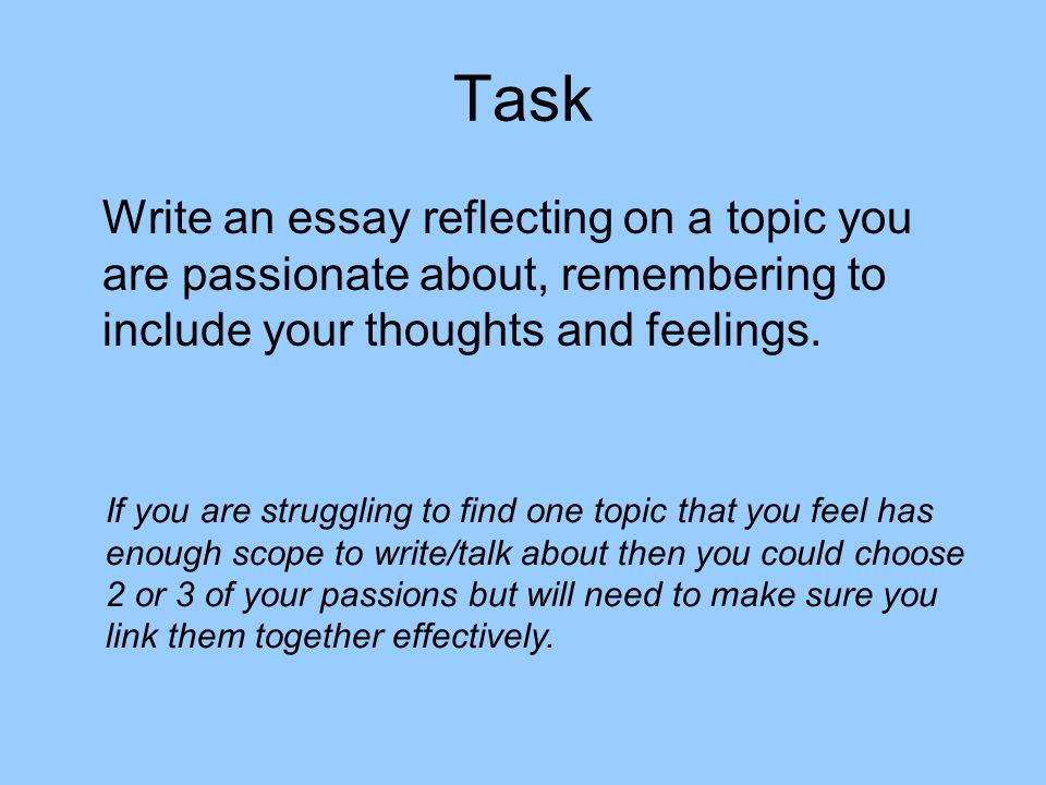 the thesis of your reflective essay will be How to write a self reflective essay ensure that whatever content is in the body ties with your thesis statement write a recap of your essay in your conclusion.