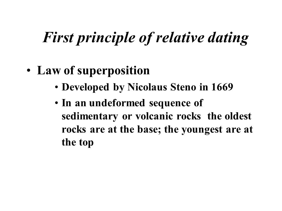 7 relative age dating principles The age of a given mineral sample the purpose of this lab is to introduce the principles and concepts associated with both relative and absolute dating.