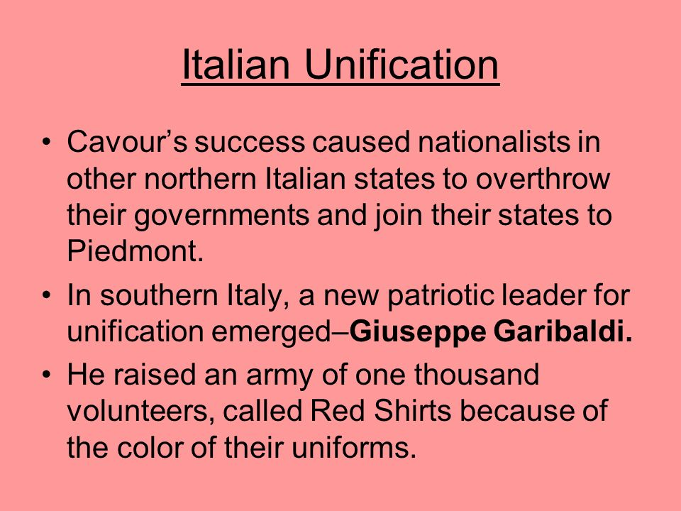 Italian Unification