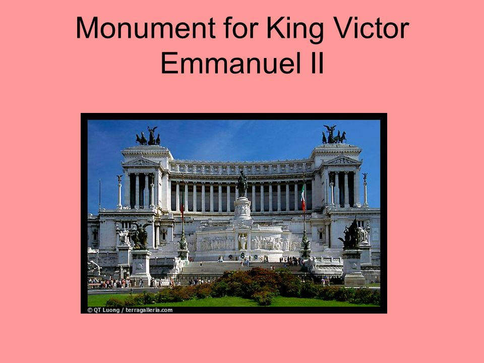 Monument for King Victor Emmanuel II