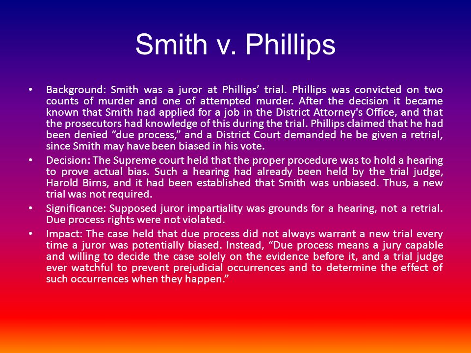 Smith v. Phillips