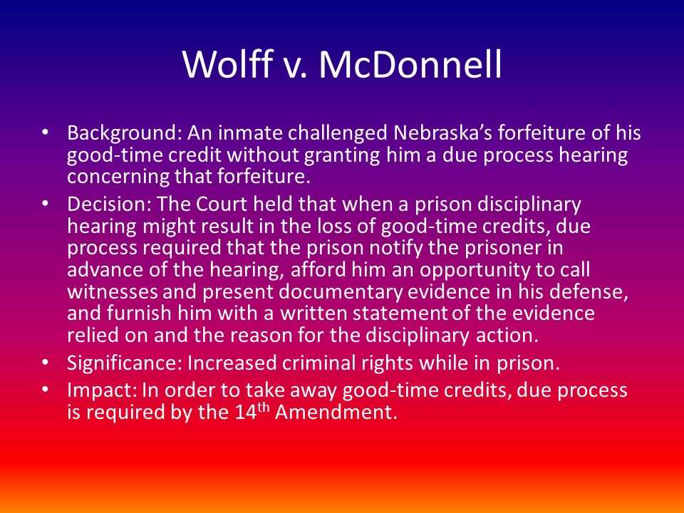 Wolff v. McDonnell