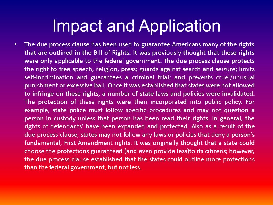 Impact and Application