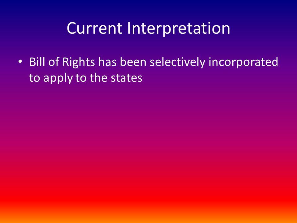 Current Interpretation