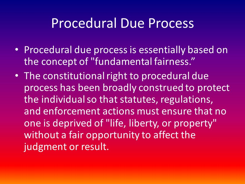 Procedural Due Process