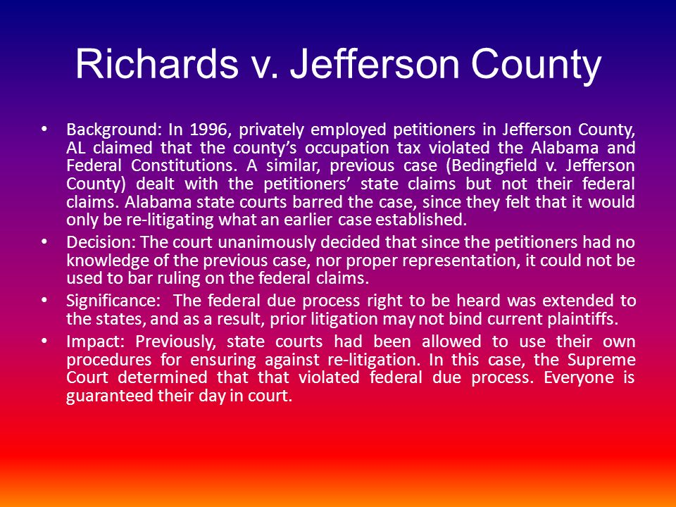 Richards v. Jefferson County
