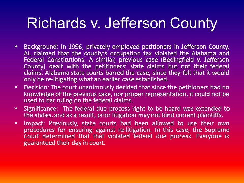 Richards v. Jefferson County