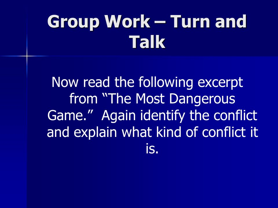 Group Work – Turn and Talk