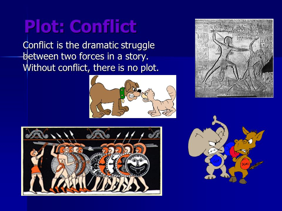 Plot: Conflict Conflict is the dramatic struggle between two forces in a story.