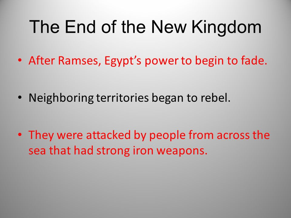 The End of the New Kingdom