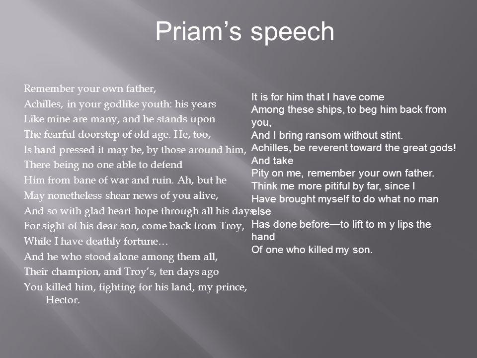 Priam's speech