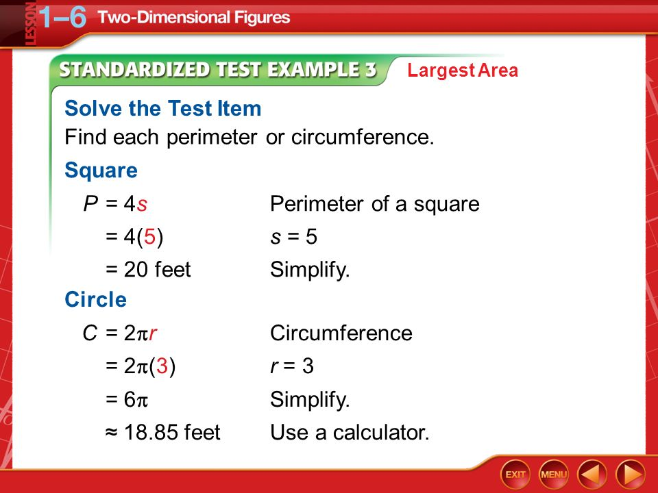 Find each perimeter or circumference.