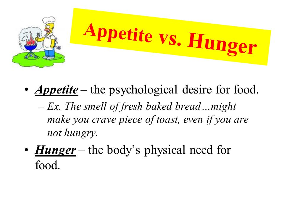 Psychological Desire To Eat Food