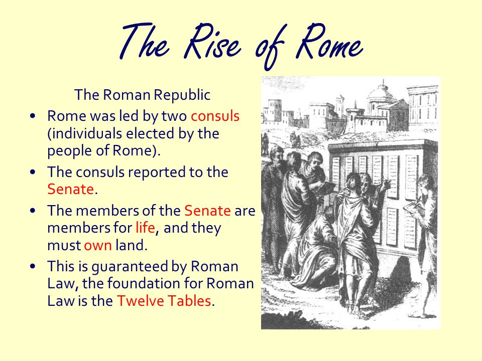 The Rise of Rome The Roman Republic
