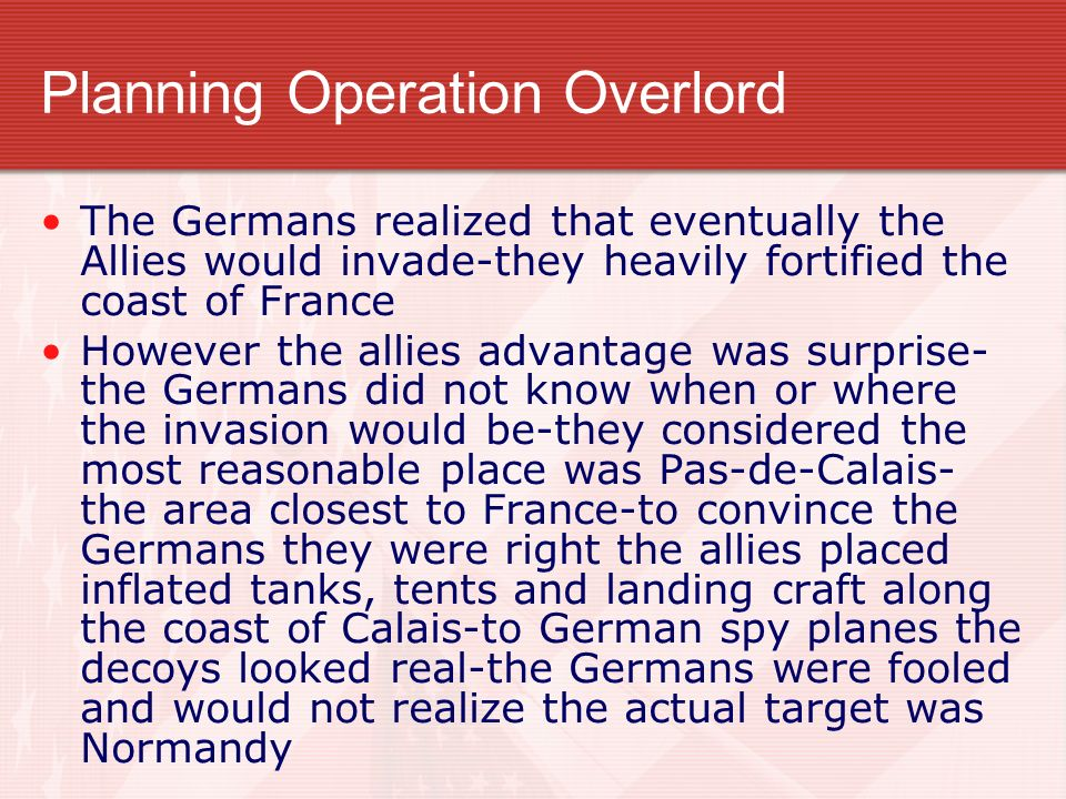 Planning Operation Overlord