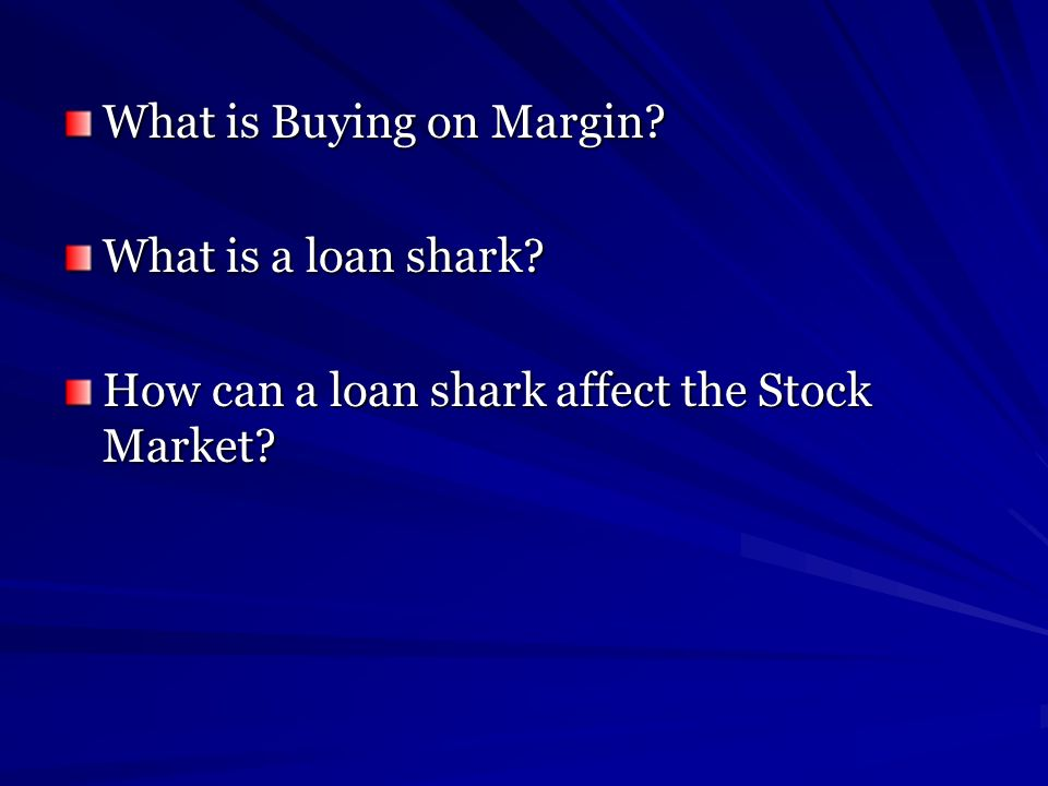 What is Buying on Margin