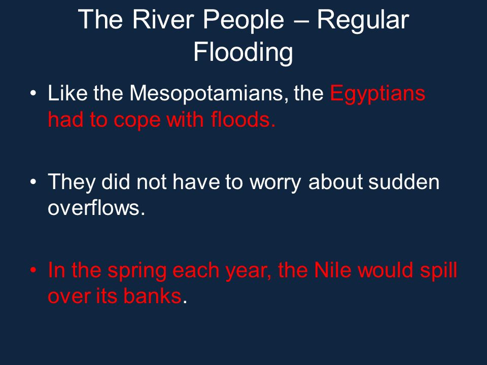 The River People – Regular Flooding