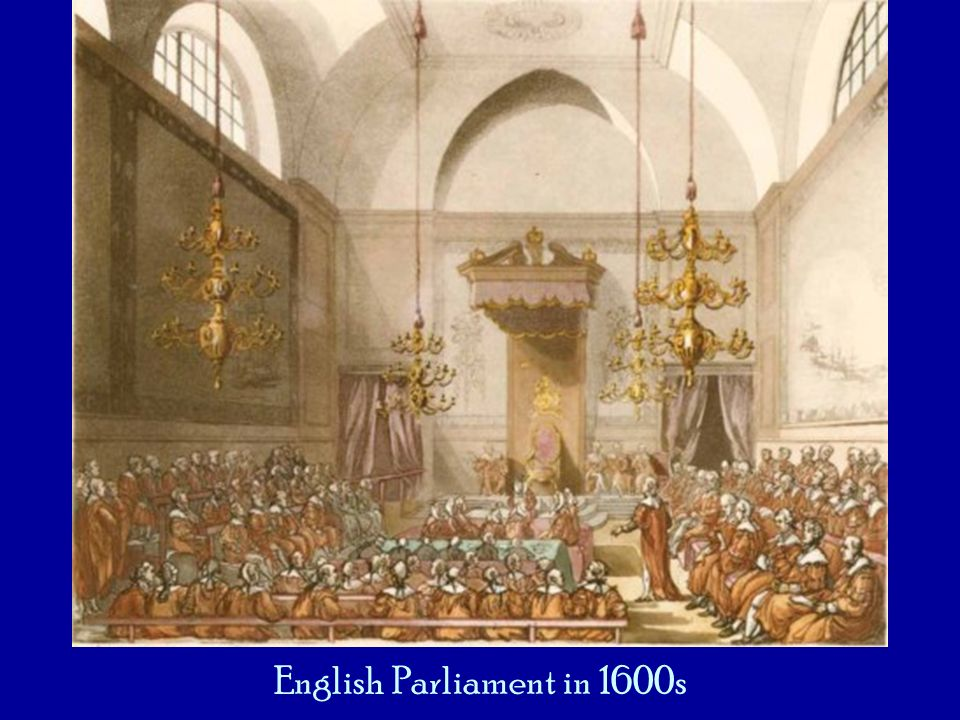 English Parliament in 1600s