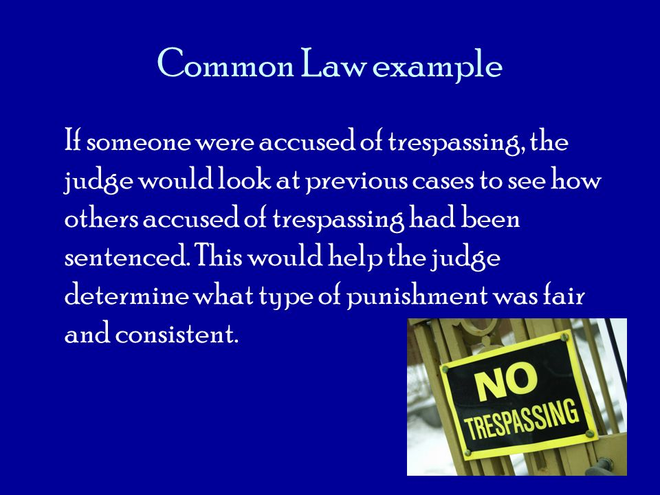 Common Law example