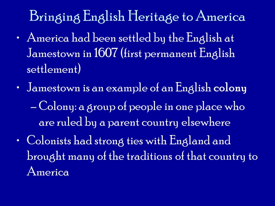 Bringing English Heritage to America