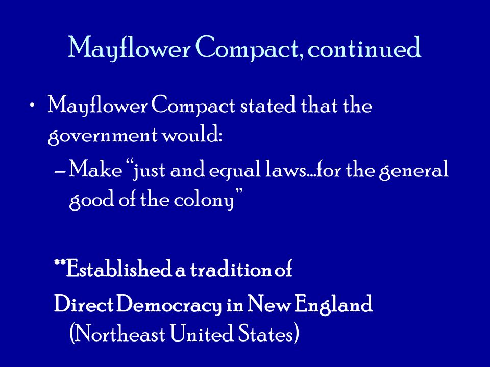 Mayflower Compact, continued