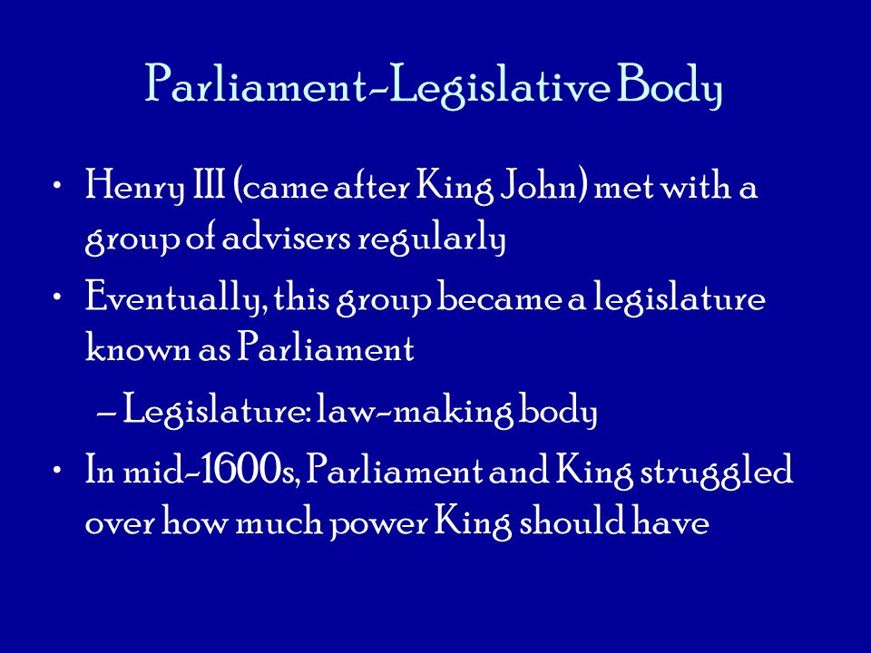 Parliament-Legislative Body