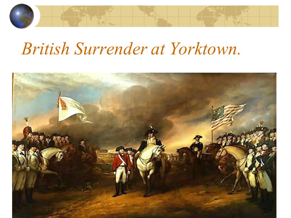 British Surrender at Yorktown.
