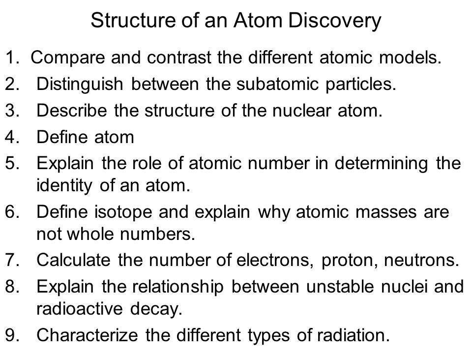 Structure of an Atom Discovery