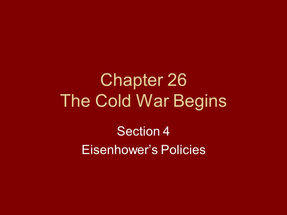 chapter 17 the cold war begins