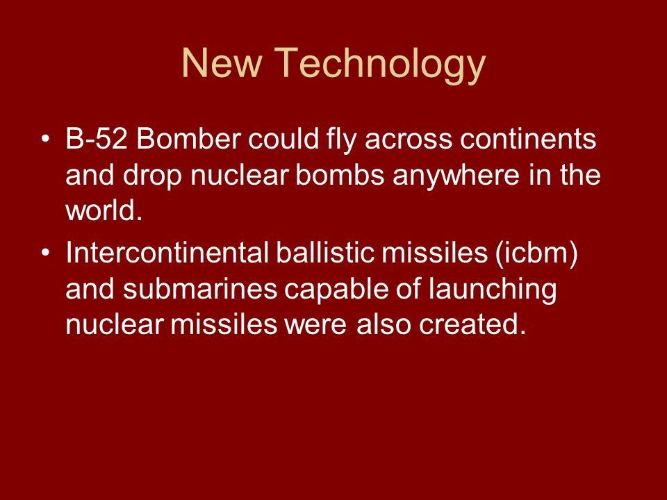 New Technology B-52 Bomber could fly across continents and drop nuclear bombs anywhere in the world.