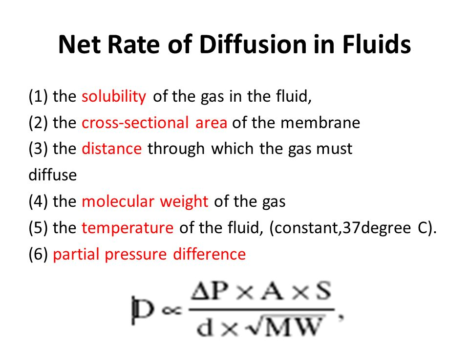 effect of molecular weight in the rate of diffusion Temperature affects how strong and frequent the collisions are, and molecular weight affects the outcomes of collisions so the rate of diffusion depends on both of these quantities flux and diffusion.