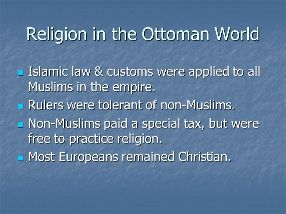 Religion in the Ottoman World