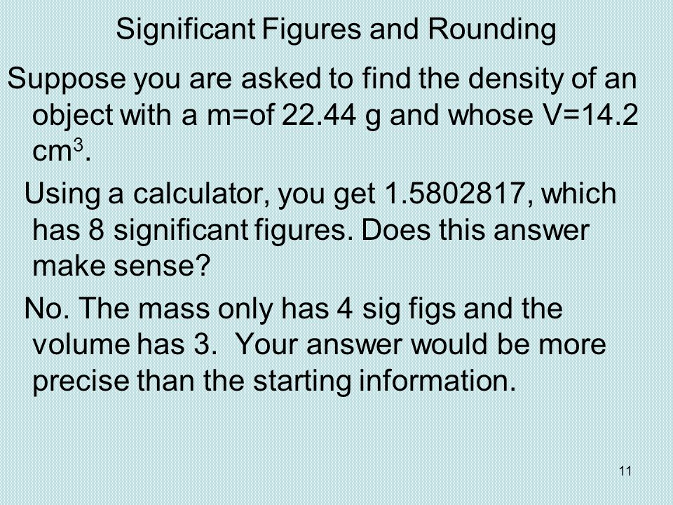 Significant Figures and Rounding
