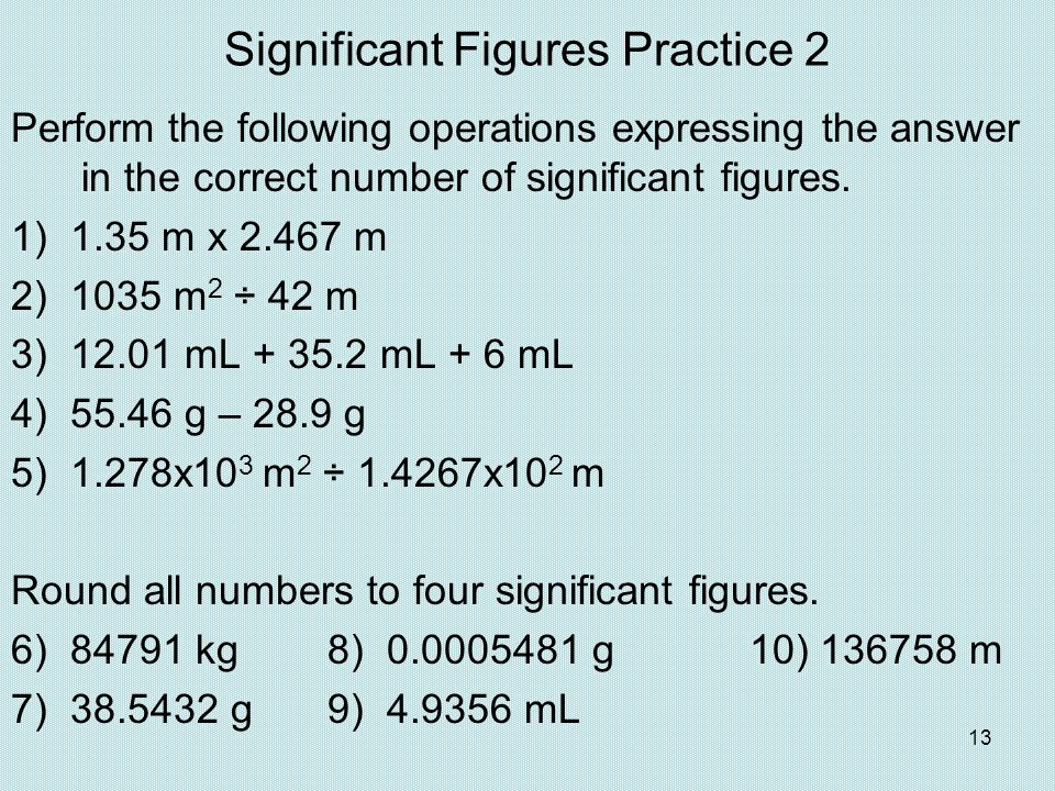 Significant Figures Practice 2