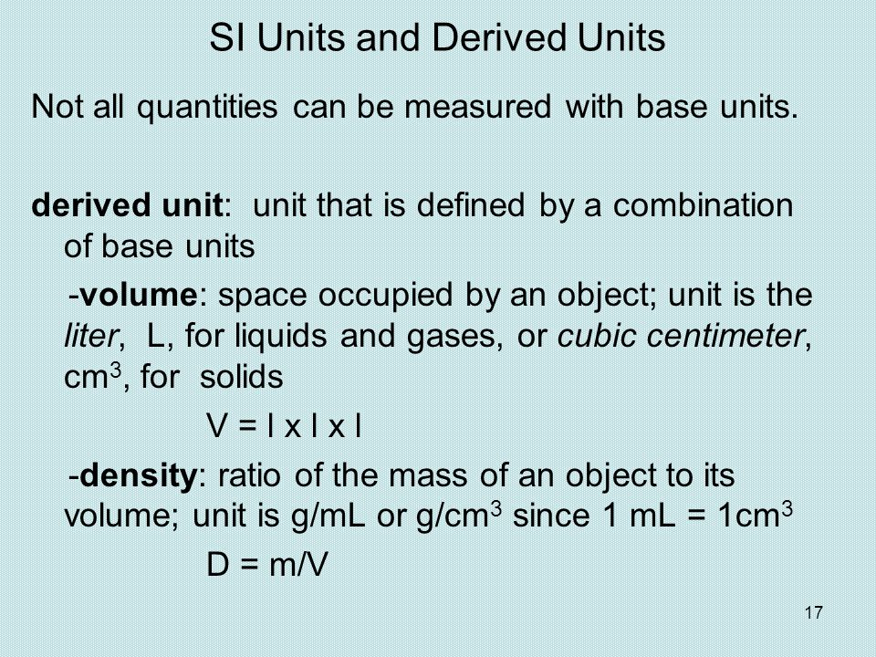 SI Units and Derived Units