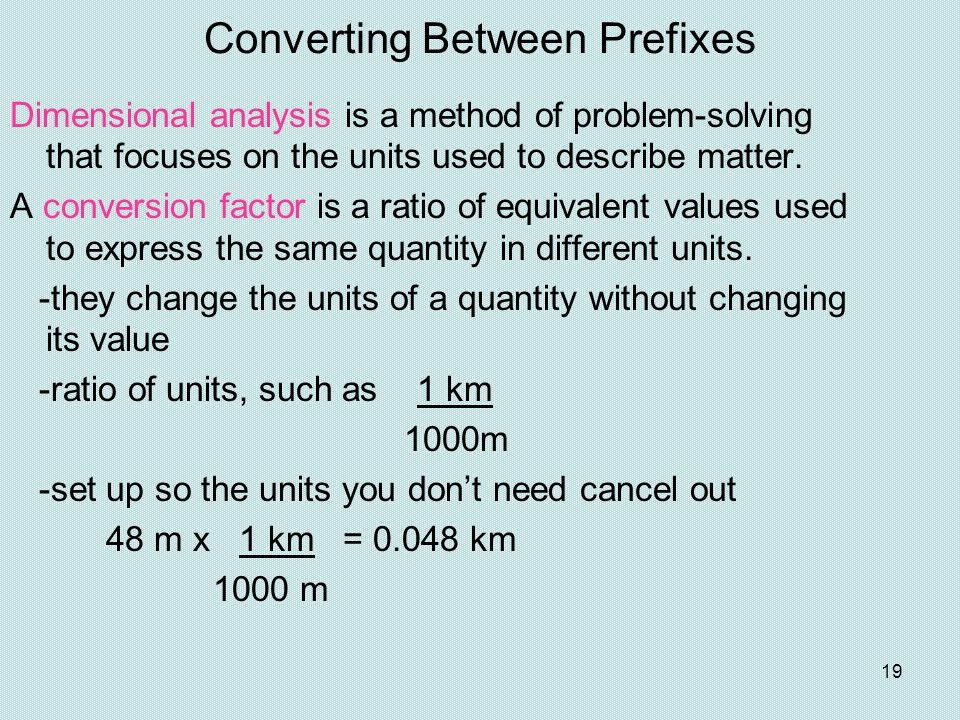 Converting Between Prefixes