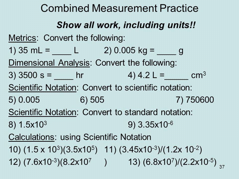 Combined Measurement Practice