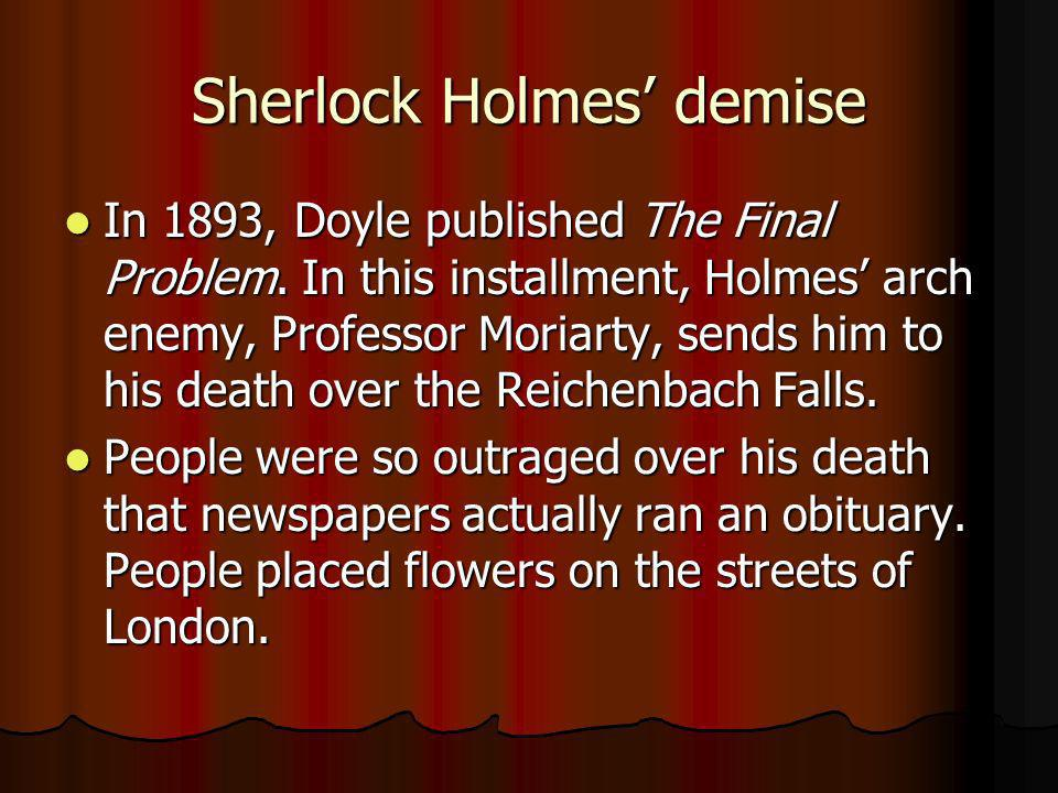 Sherlock Holmes' demise