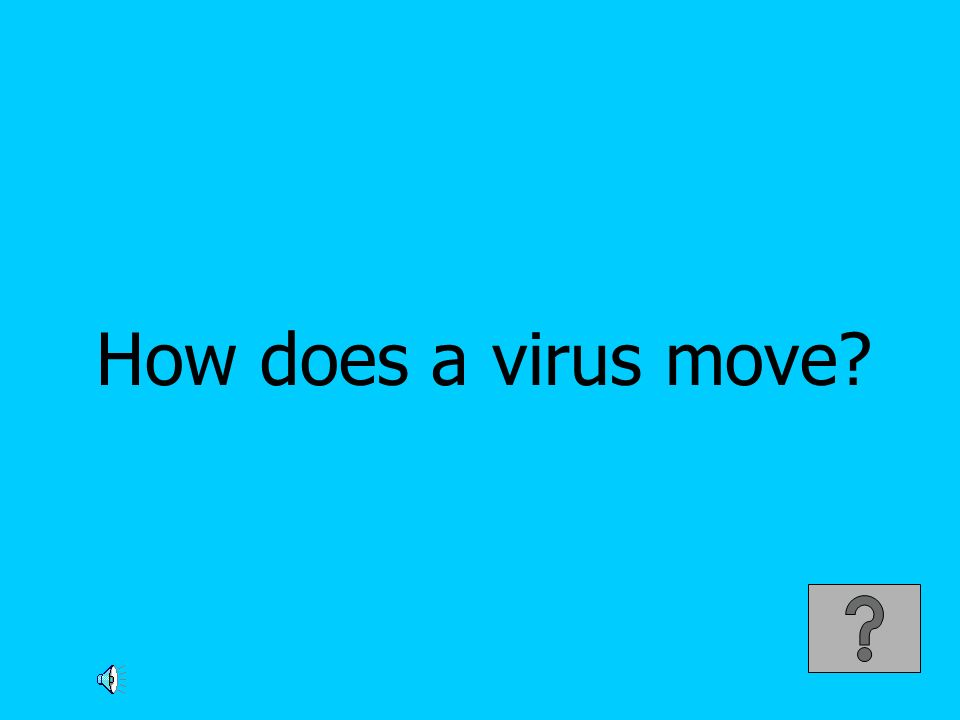 How does a virus move