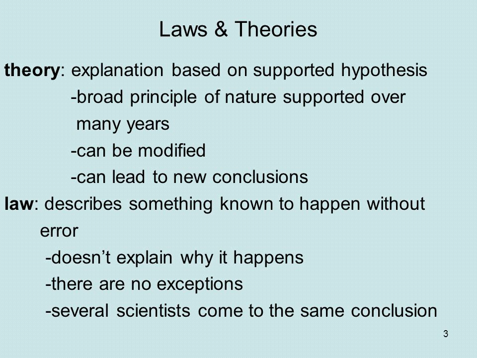 Laws & Theories
