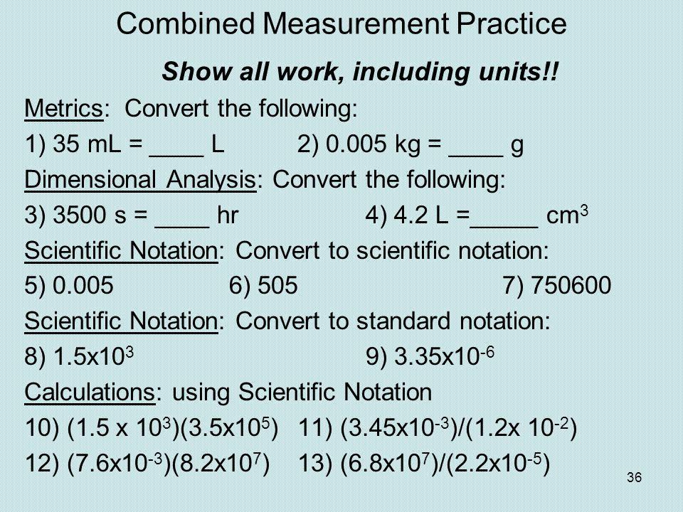 Combined Measurement Practice