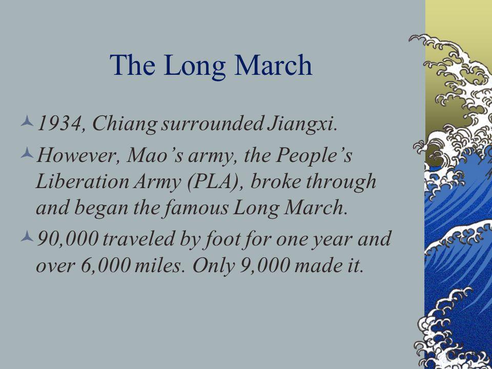 The Long March 1934, Chiang surrounded Jiangxi.