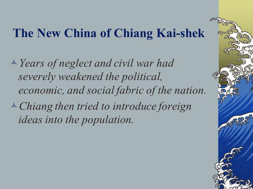 The New China of Chiang Kai-shek