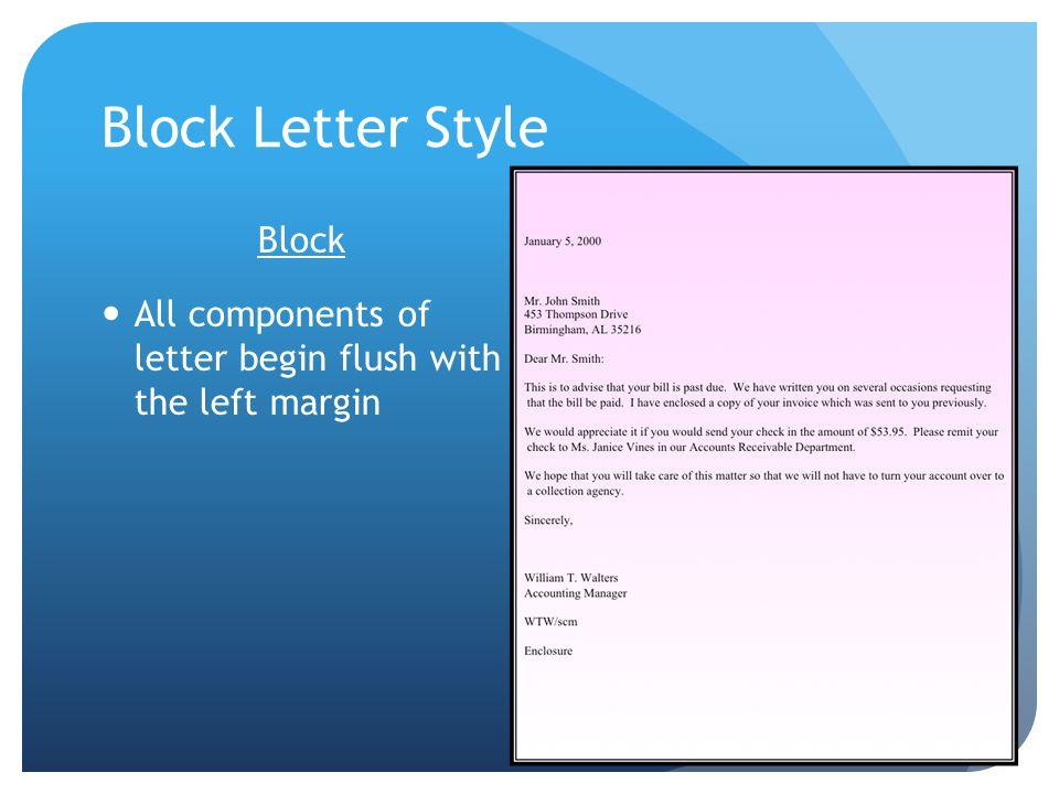 Block Letter Style Block