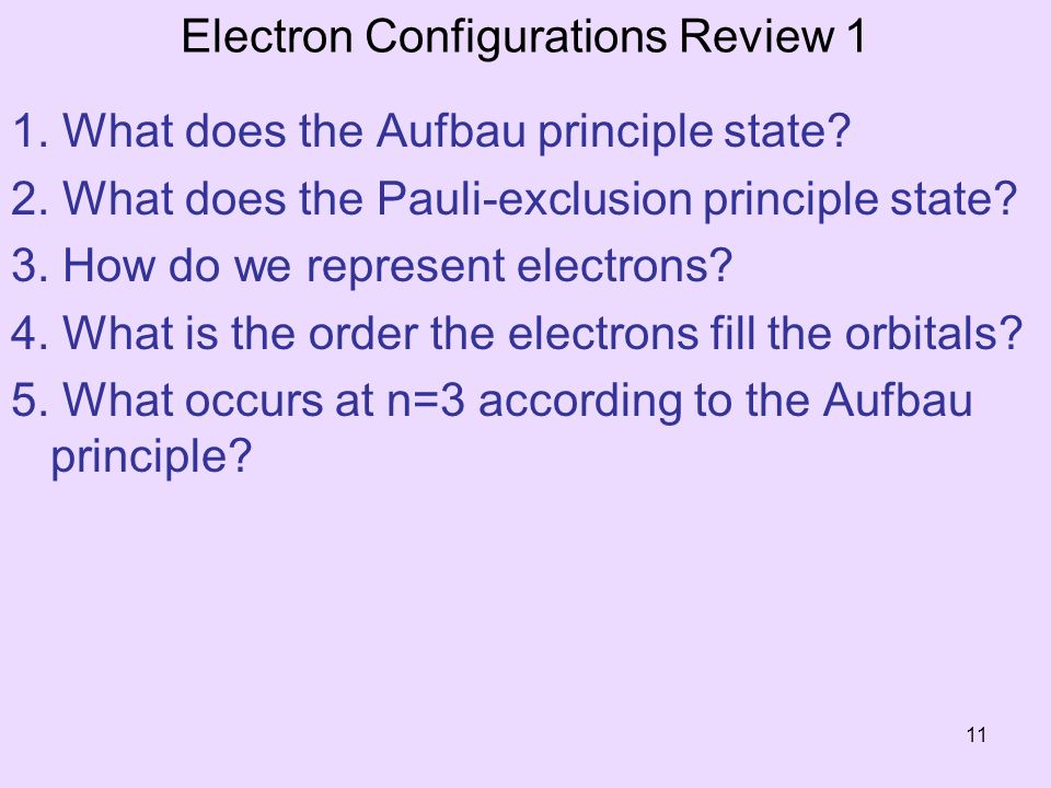 Electron Configurations Review 1