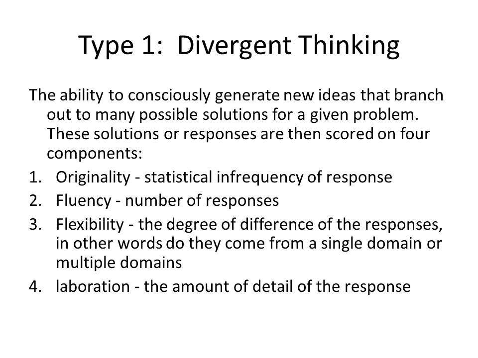 Response on various kinds of thinking by robinson