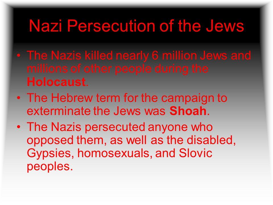 Nazi Persecution of the Jews