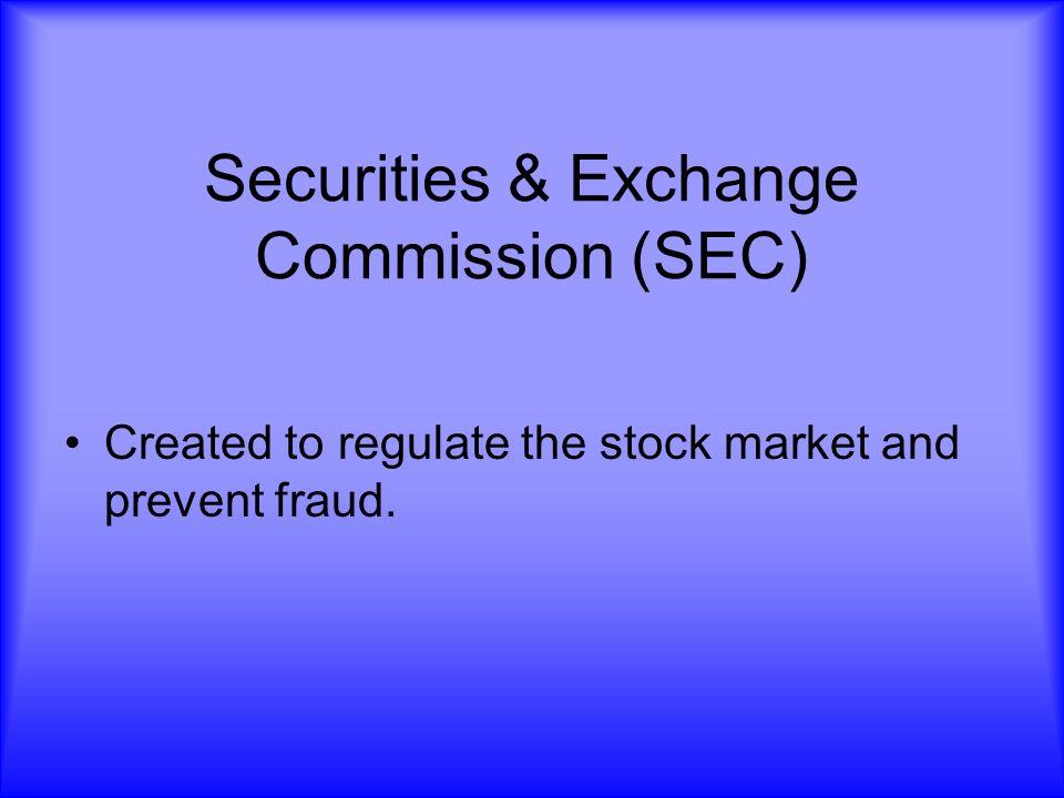 Securities & Exchange Commission (SEC)